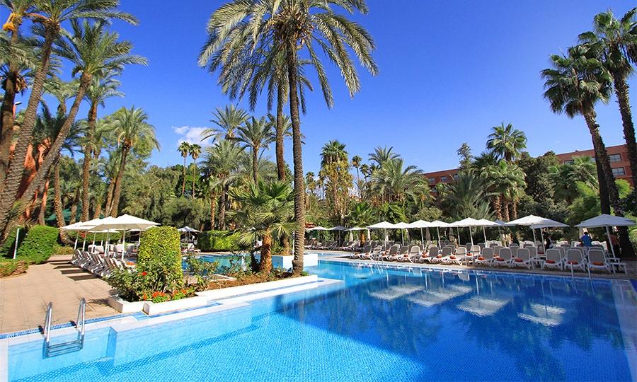 Offre Imbattable : Une nuit pour 2 adultes +1 enfant -12ans en DP à Hotel Kenzi Rose Garden Marrakech 5* à seulement 1205 dh!!