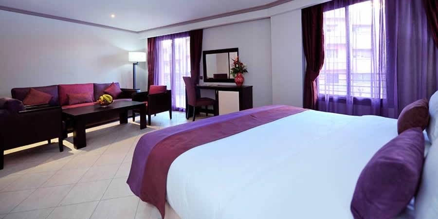 Une nuit pour 2 adultes +1enfant(-10ans) en DP dans une chambre double à Hotel Blue Sea Le Printemps Gueliz seulement à 675 dh!!