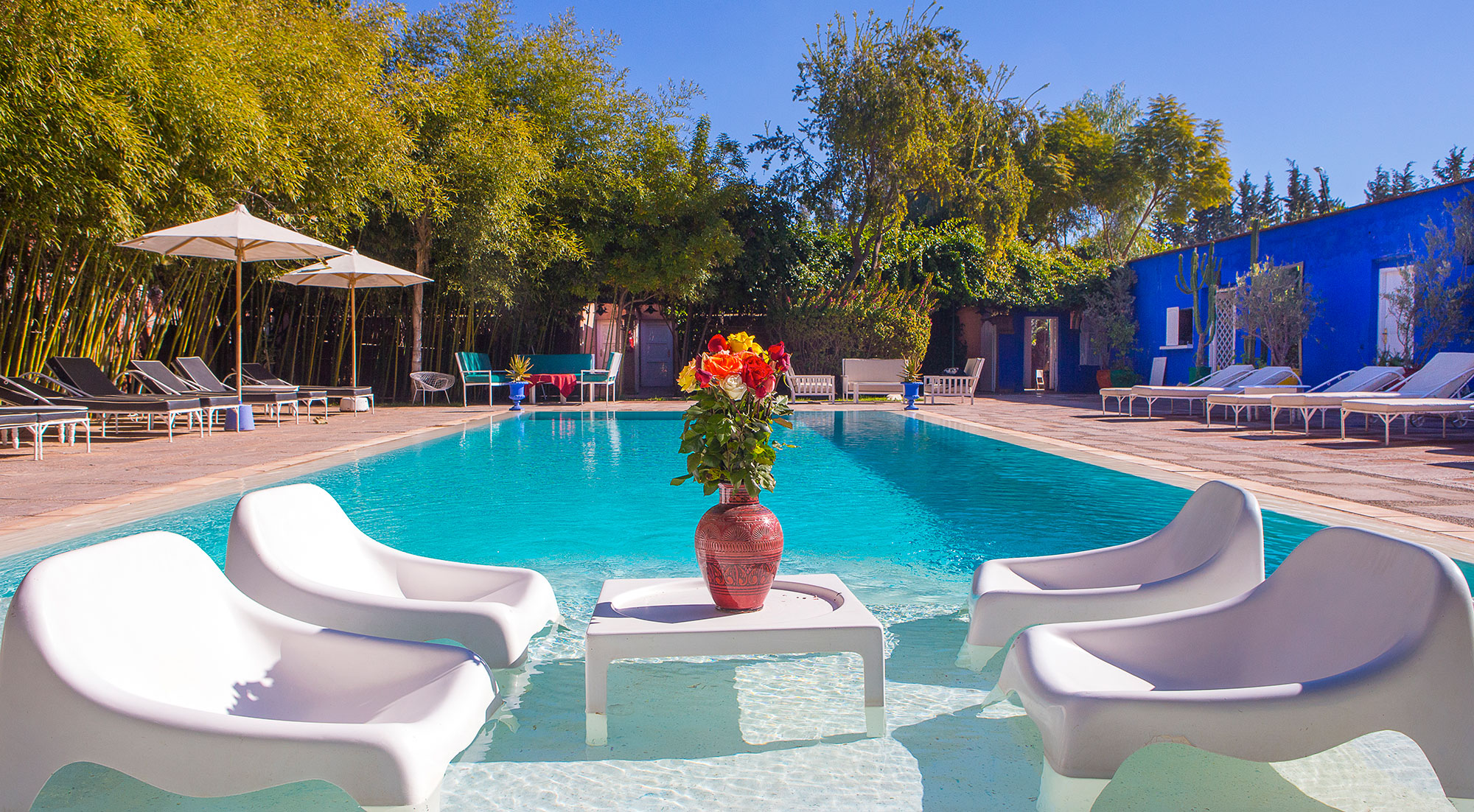 Une nuit pour 2 adultes + 2 enfants (-12ans) dans une chambre double au Bled Marrakech en DP seulement à 699 dh!!!